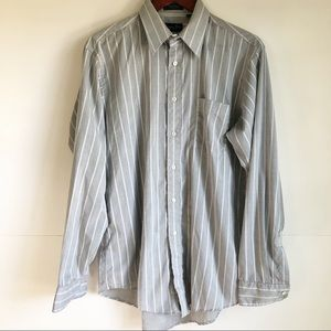 Christian Dior Mens Monsieur Dress Shirt Gray 16